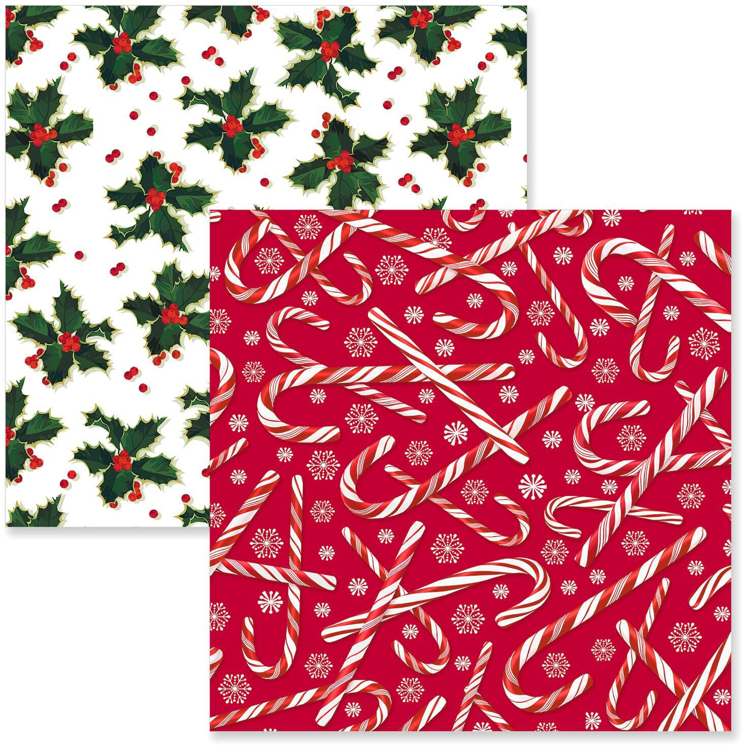 candy canesholly christmas wrapping paper rolls pack of 2 wrapping paper hallmark - Pink Christmas Wrapping Paper