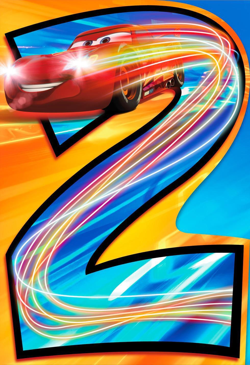 Disney Pixar Cars Lightning Mcqueen Musical 2nd Birthday