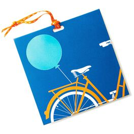 Bike With Balloon Gift Tag, , large