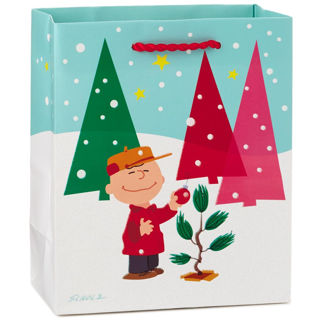 Peanuts® Charlie Brown Tree Small Christmas Gift Bag, 6.5\
