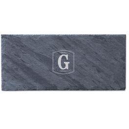Single Monogram Personalized Slate Tray, , large