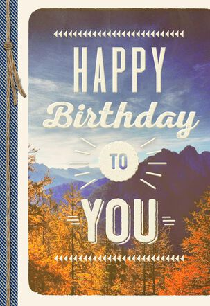 Mountain Scene Blank Birthday Card
