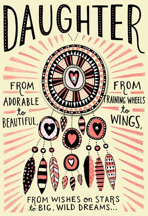 Dream Catcher Valentine's Day Card for Daughter