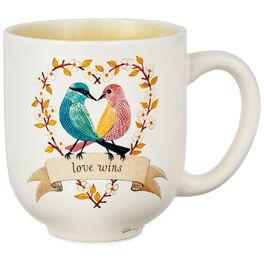 Lovebirds Ceramic Mug, , large