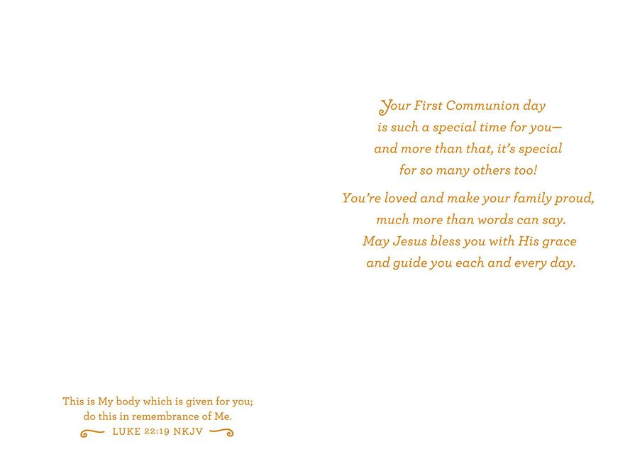 great grandson first communion card great grandson first communion card