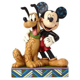 Jim Shore® Best Pals Mickey Mouse and Pluto Figurine, , large