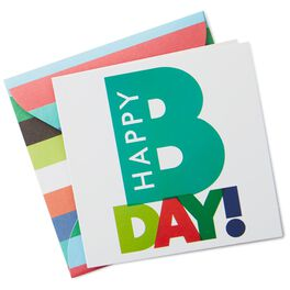 Happy B-Day Gift Enclosure Card, , large
