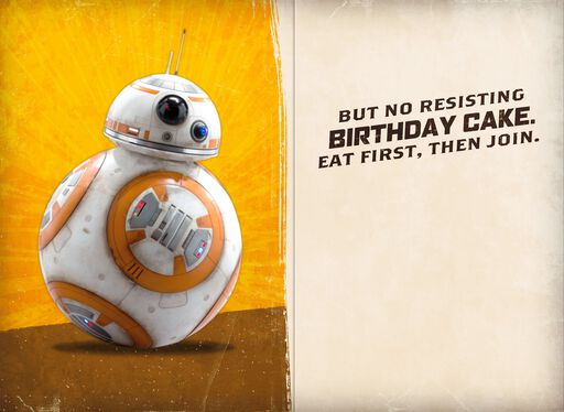 Star Wars™ Resistance Droids Birthday Cake Sound Card,