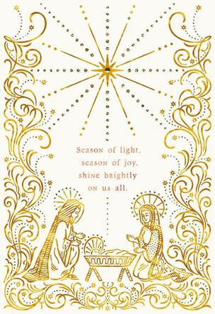 Season of Light Religious Christmas Card