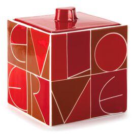 Red Love Porcelain Treasure Box, , large