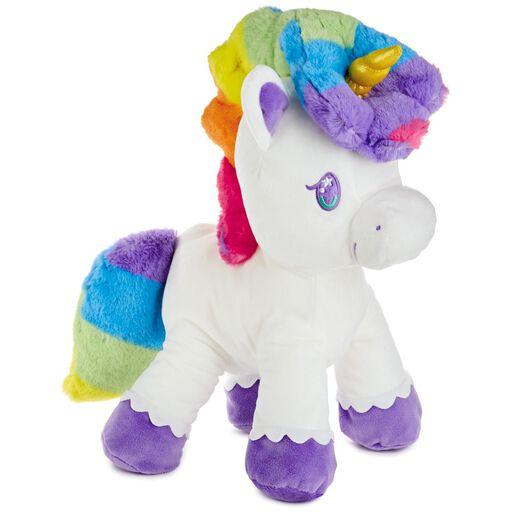 0080824c6 Rainbow Unicorn Floppy Stuffed Animal, 12