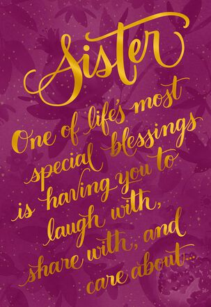 Special Blessings Rosh Hashanah Card for Sister