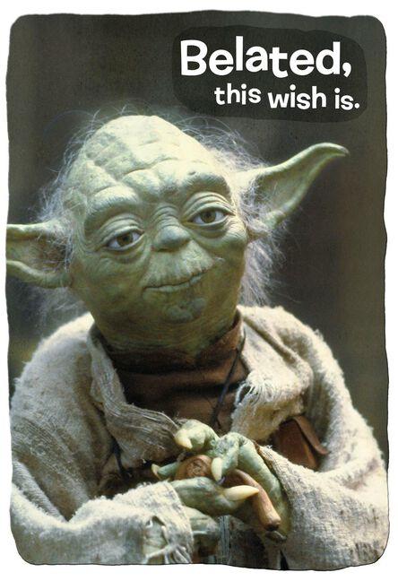Star Wars Yoda Funny Belated Birthday Card Greeting Cards Hallmark