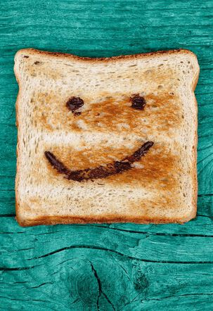 Smiley Face Toast Congratulations Card