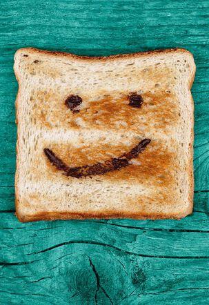 Smiley Face Toast Congratulations Card