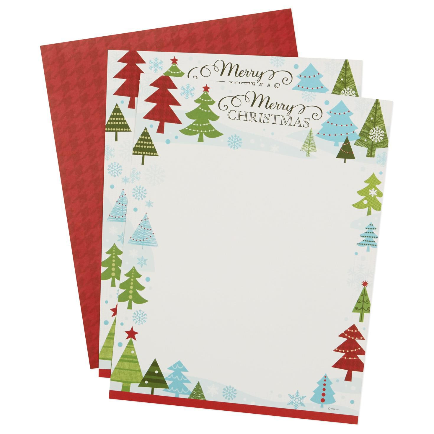 Merry Christmas Winter Scene puter Paper Pack of 20 Sheets