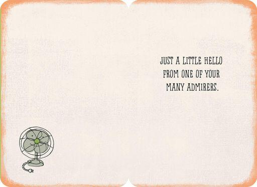 Your Fan Club Appreciation Card,