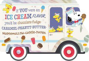 Peanuts® Snoopy Best Ice Cream Truck Birthday Card