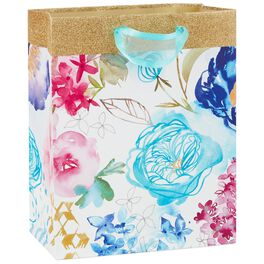 "Watercolor Blooms Medium Gift Bag, 9.5"", , large"