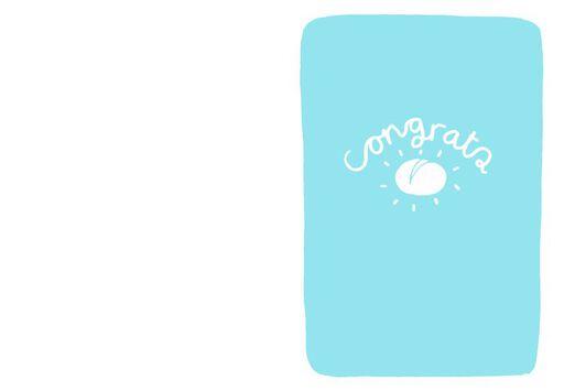Bun in the Oven Baby Congratulations Card,