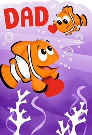 Finding Nemo for Dad Valentine's Day Card