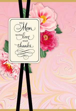 Floral and Marbled Mother's Day Card