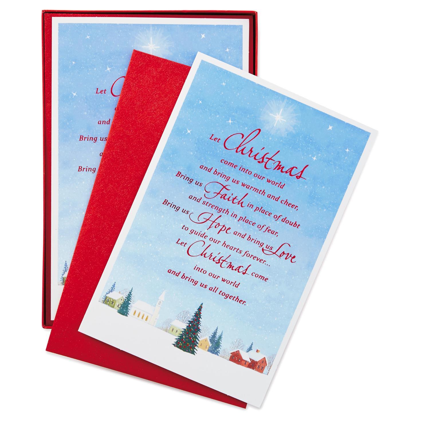 Hallmark Christmas Cards.Warmth And Cheer Christmas Cards Box Of 40