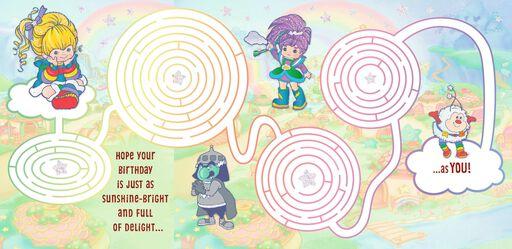 Rainbow Brite Maze Birthday Card,