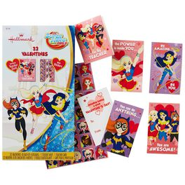 DC Super Hero Girls™ Kids' Valentines With Stickers, 32 Pack, , large