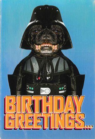 Star Wars™ Darth Vader™ Dog Birthday Card