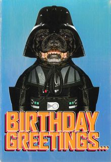 Star Wars™ Darth Vader™ Dog Birthday Card,