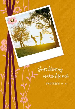 God's Blessing Religious Engagement Wedding Card