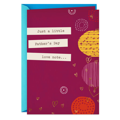 A Little Love Note Romantic Fathers Day Card