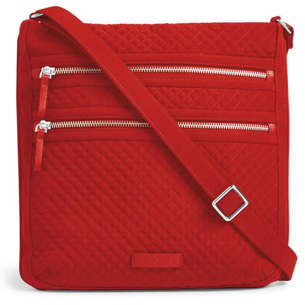 Vera Bradley Iconic Triple Zip Hipster Bag In Cardinal Red