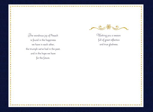 Gold Foil Hebrew Letters and Star of David Passover Card,