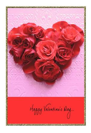 Heart of Roses Valentine's Day Card