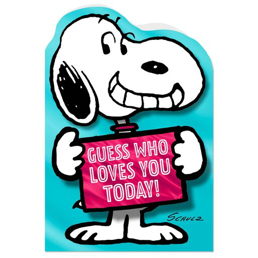 peanuts guess who loves you funny birthday card