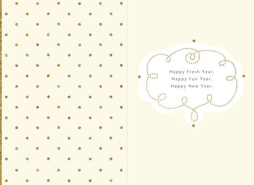 New years day greeting cards happy fun gold and glittery new year card m4hsunfo