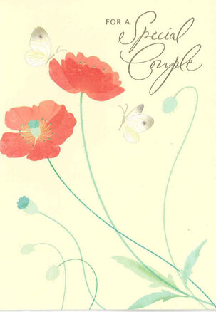Couple of Poppies Anniversary Card