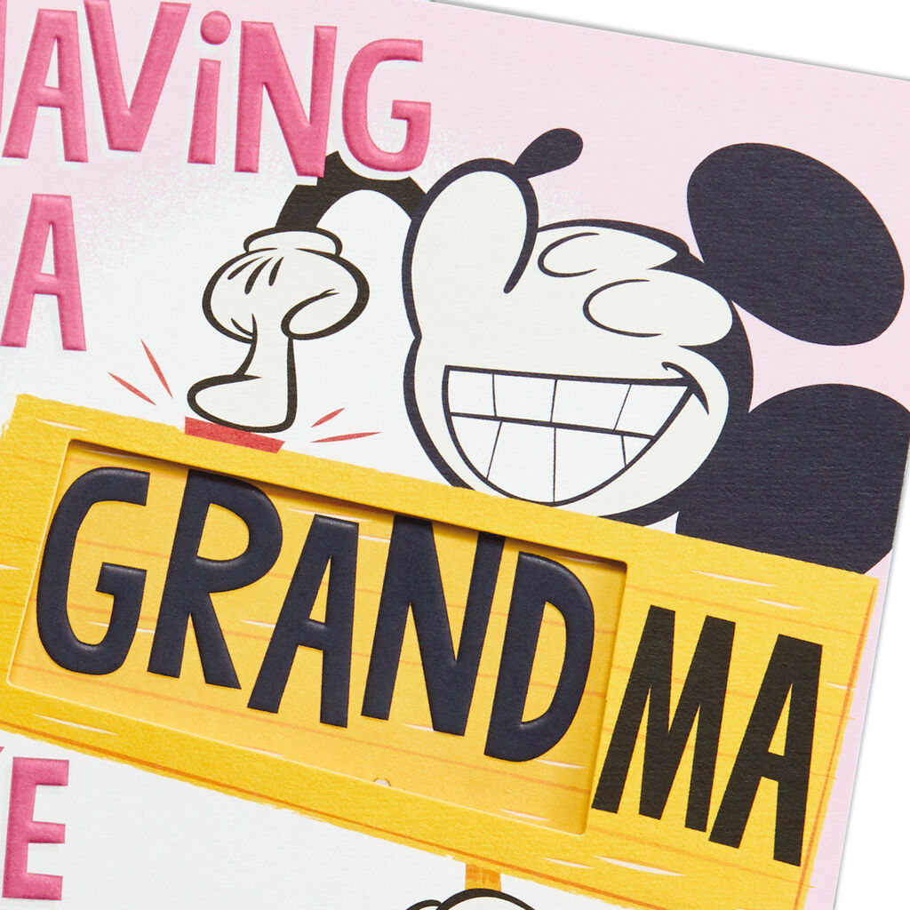 Pop-Up Mickey Mouse Mother's Day Card for Grandma
