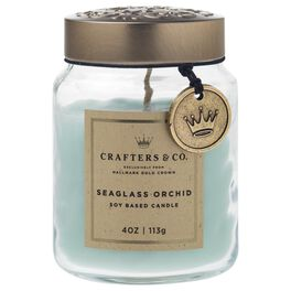 Crafters & Co. Seaglass Orchid Candle, 4-oz, , large