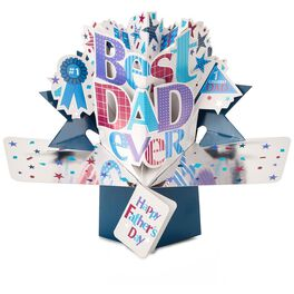 Best Dad Ever Pop-Up Father's Day Card, , large