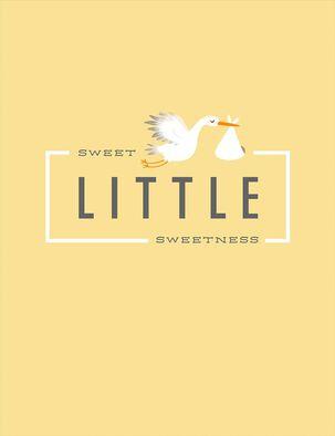 Sweet Stork New Baby Card