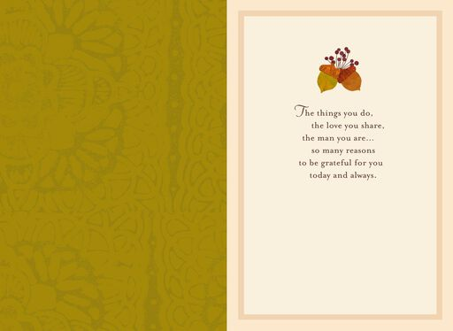 Grateful for You Thanksgiving Card for Dad,