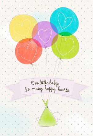 Baby Balloons Congratulations on Adoption Card