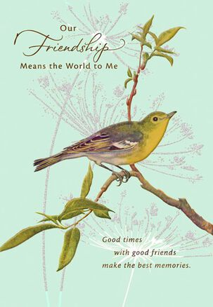 Bird on a Branch Friend Birthday Card