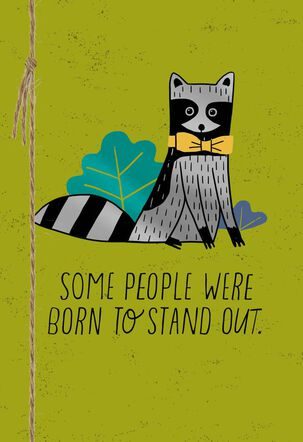 Born to Stand Out Birthday Card for Son