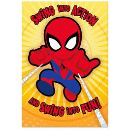 MARVEL Swinging Spider-Man Pop-Up Birthday Card, , large