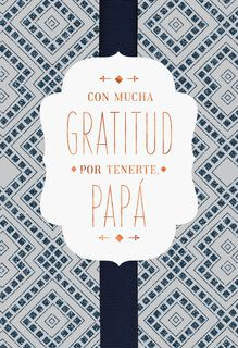 So Thankful for You Spanish-Language Father's Day Card for Dad,