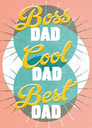 Boss Dad Father's Day Card